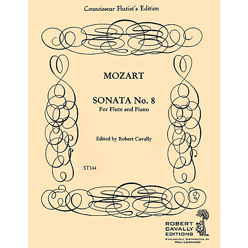 Hal Leonard Sonata No. 8 in F (Connoisseur Flutist's Edition) Robert Cavally Editions Series by Robert Cavally