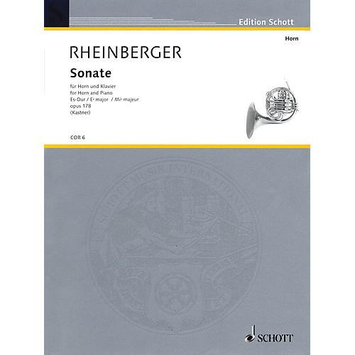 Schott Sonata Op. 178 E Flat Major (Horn and Piano) Schott Series