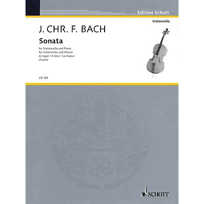 Schott Sonata for Cello and Piano in A Major String Series
