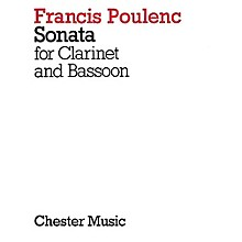 Chester Music Sonata for Clarinet and Bassoon Music Sales America Series Composed by Francis Poulenc