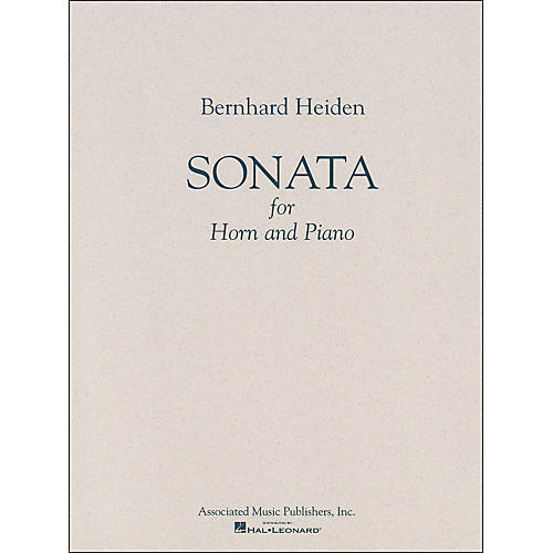 G. Schirmer Sonata for Horn And Piano