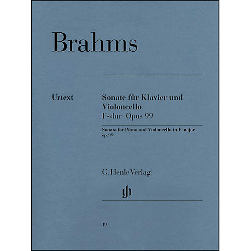 G. Henle Verlag Sonata for Piano And Violoncello In F Major Opus 99 By Brahms