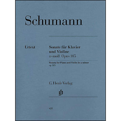 G. Henle Verlag Sonata for Piano and Violin in A Minor Op. 105 By Schumann