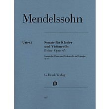 G. Henle Verlag Sonata for Piano and Violoncello B Flat Major Op. 45 Henle Music Folios Series Softcover