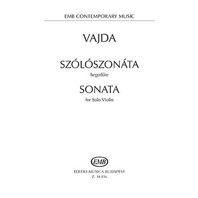 Editio Musica Budapest Sonata for Solo Violin EMB Series Softcover