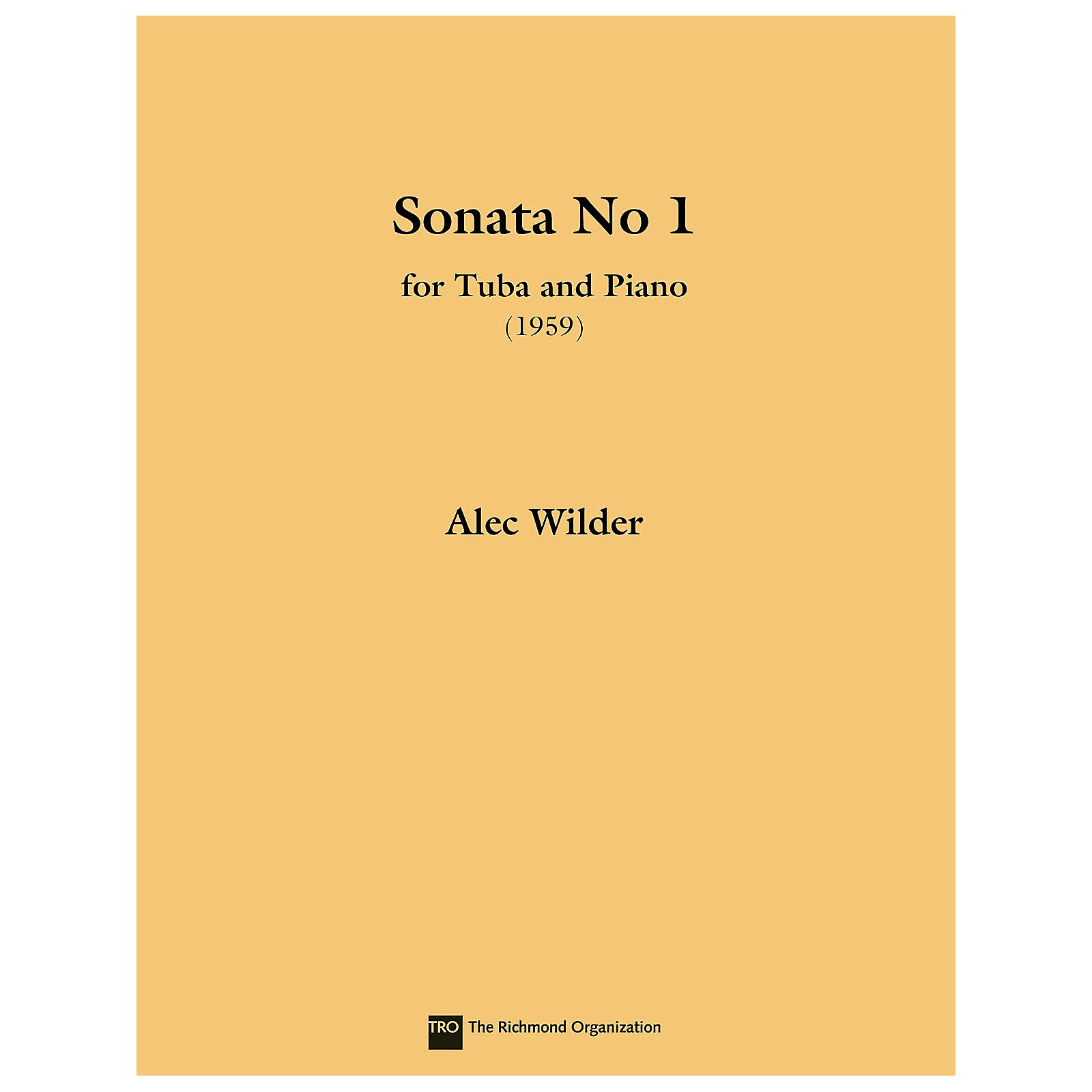 TRO ESSEX Music Group Sonata for Tuba and Piano (1959) (Tuba (B.C.)) Richmond Music ¯ Instrumental Series by Alec Wilder