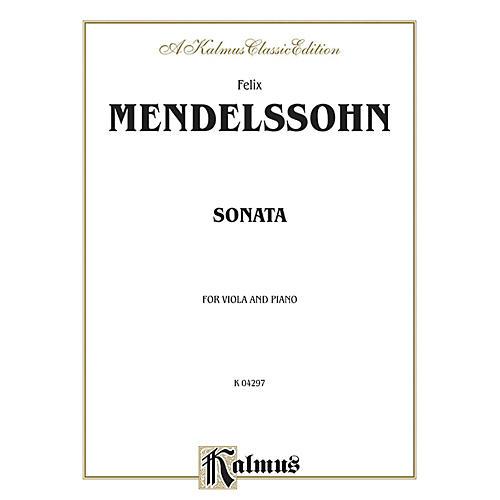 Alfred Sonata for Viola By Felix Mendelssohn Book