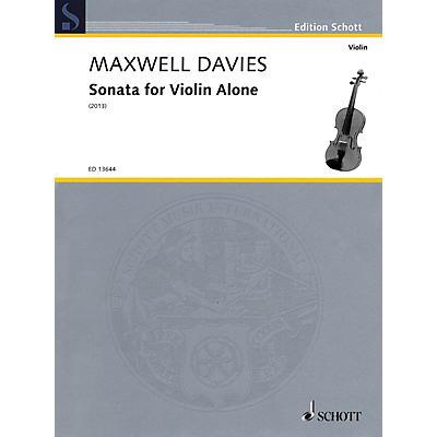 Schott Sonata for Violin Alone String Solo Series Softcover