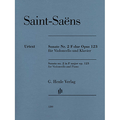 G. Henle Verlag Sonata for Violoncello and Piano No. 2 in F Major, Op. 123 Henle Music Folios Series Softcover