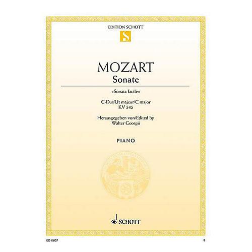 Schott Sonata in C Major, KV 545, Sonata Facile Schott Series