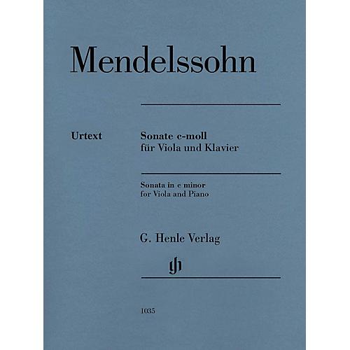 G. Henle Verlag Sonata in C Minor Henle Music Composed by Mendelssohn Bartholdy Edited by Ernst Herttrich