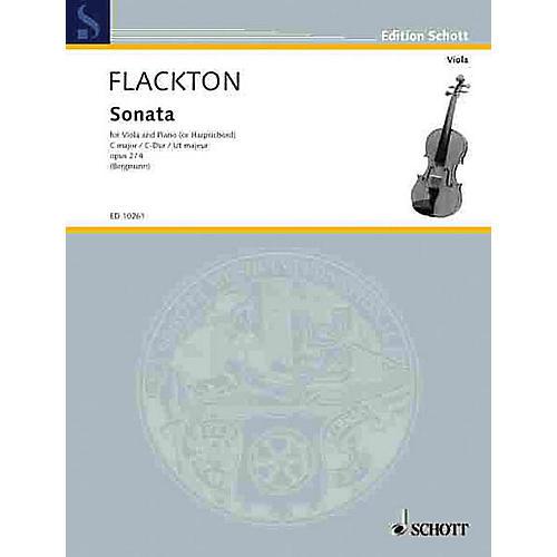 Schott Sonata in C Op. 2, No. 4 (Viola and Piano (Harpsichord)) Schott Series