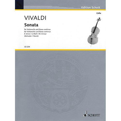 Schott Sonata in E Minor RV 40 (Cello and Basso Continuo) String Solo Series
