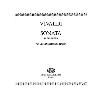 Editio Musica Budapest Sonata in E minor for Cello and Guitar RV40 EMB Series by Antonio Vivaldi