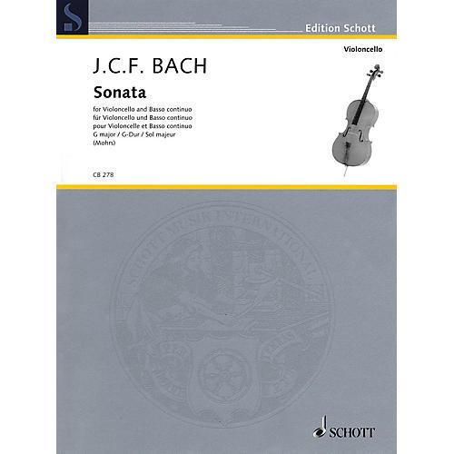 Schott Sonata in G Major (Cello and Basso Continuo) String Series