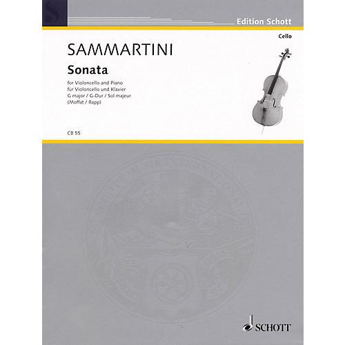 Schott Sonata in G Major (Violoncello and Piano) Schott Series