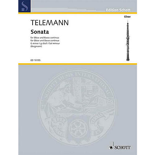 Schott Sonata in G Min (Oboe with Piano Accompaniment) Schott Series