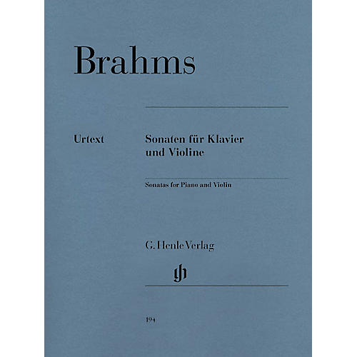 G. Henle Verlag Sonatas for Piano and Violin Henle Music Folios Series Softcover