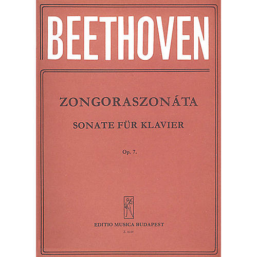 Editio Musica Budapest Sonatas for Piano in Separate Editions Op. 7 in E flat major EMB Series