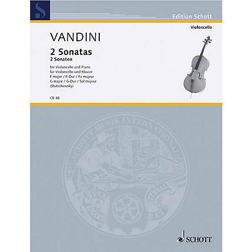 Schott Sonatas in F Major and G Major (Cello and Piano) Schott Series