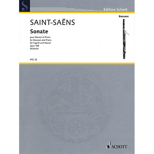 Schott Sonate, Op 168 (Bassoon and Piano) Woodwind Series Book