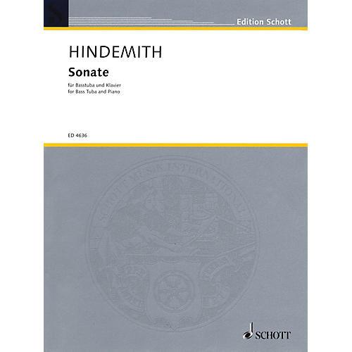 Schott Sonate für Basstuba und Klavier (1955) (Sonata for Bass Tuba and Piano) Schott Series
