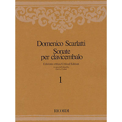 Ricordi Sonate per Clavicembalo Volume 4 Critical Edition Piano Collection by Scarlatti Edited by Emilia Fadini