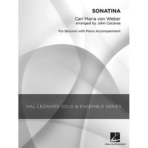 Hal Leonard Sonatina (Grade 3 Bassoon Solo) Concert Band Level 3 Arranged by John Cacavas