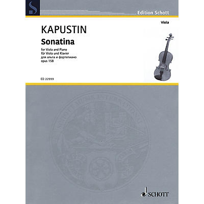 Schott Sonatina, Op. 158 for Viola and Piano by Kapustin