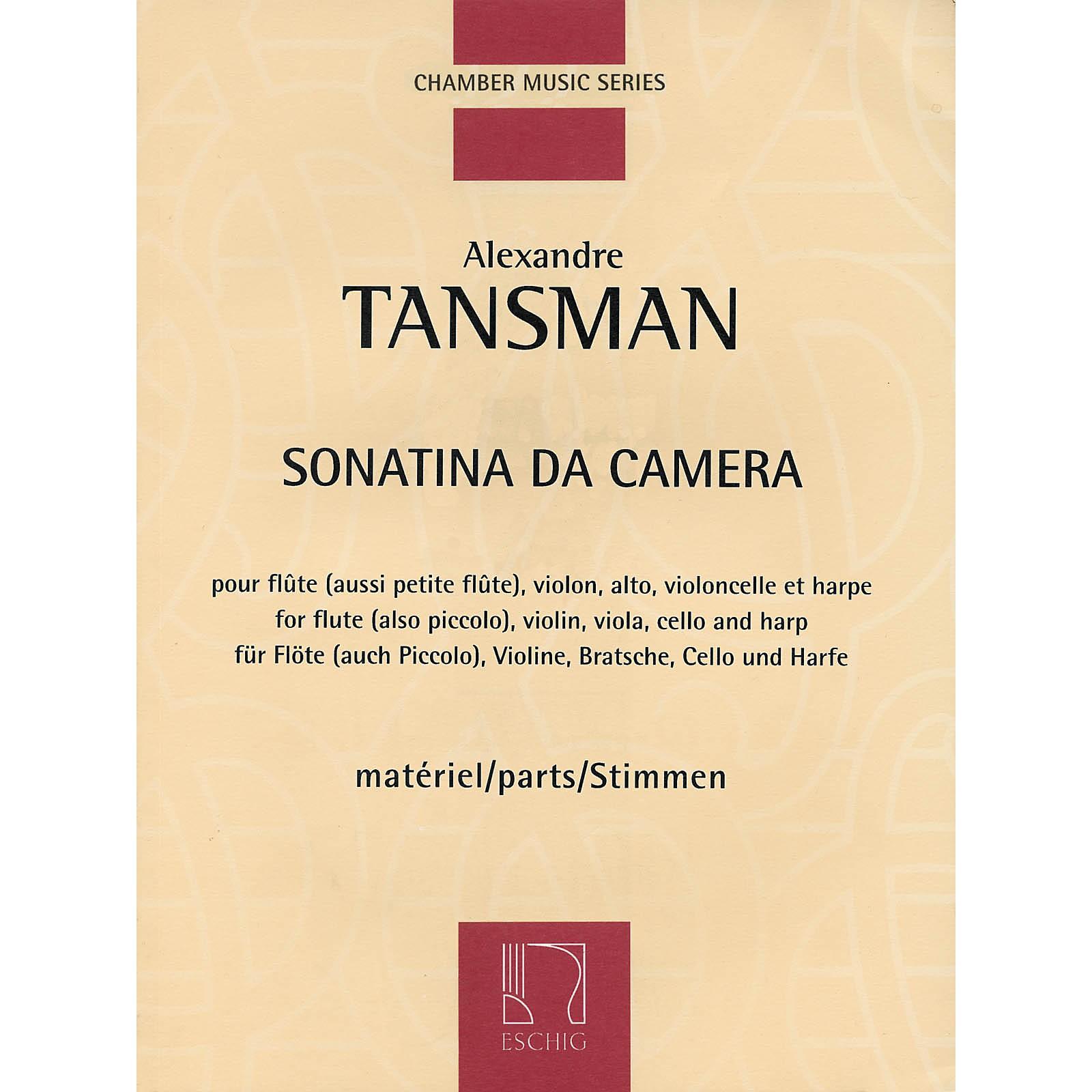 Max Eschig Sonatina da camera (Parts) Editions Durand Series Composed by Alexandre Tansman