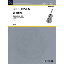 Schott Sonatina for Cello and Piano, WoO 44a String Series Softcover