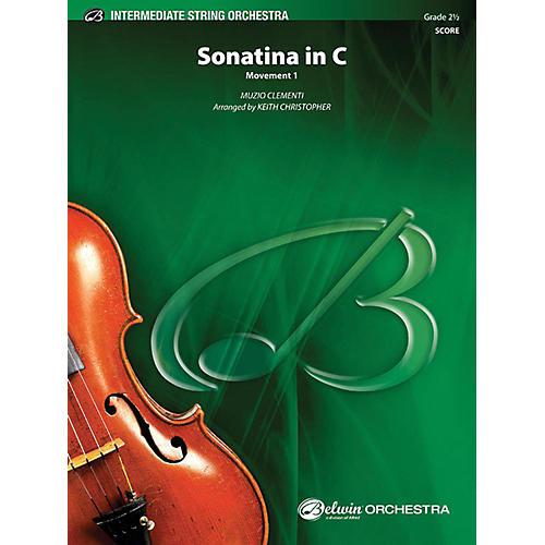 Alfred Sonatina in C String Orchestra Grade 2.5