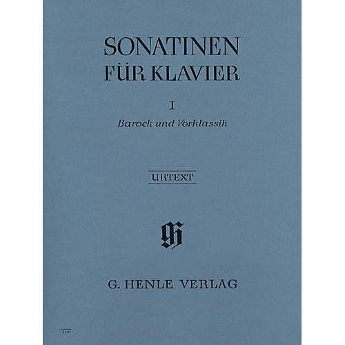 G. Henle Verlag Sonatinas for Piano - Volume I: Baroque to Pre-Classic Henle Music Folios Series Softcover
