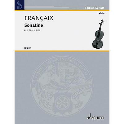 Schott Sonatine Violin/piano Schott Series
