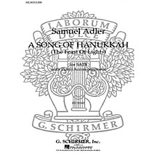 G. Schirmer Song Of Hanukkah Feast Of Lights SATB composed by S Adler