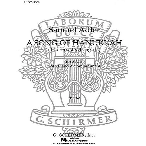 G. Schirmer Song Of Hanukkah Feast Of Lights SATB composed by S Adler