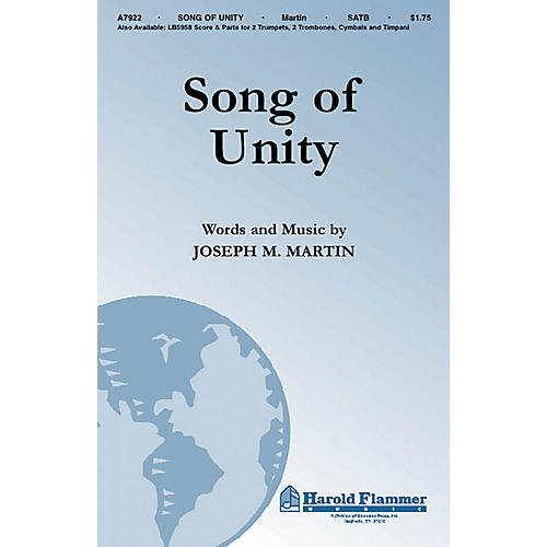 Shawnee Press Song of Unity SATB composed by Joseph M. Martin