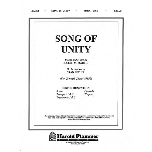 Shawnee Press Song of Unity Score & Parts composed by Joseph M. Martin