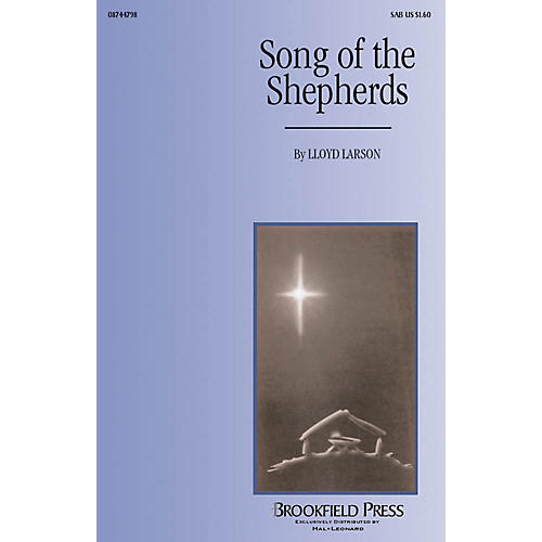 Hal Leonard Song of the Shepherds SAB composed by Lloyd Larson