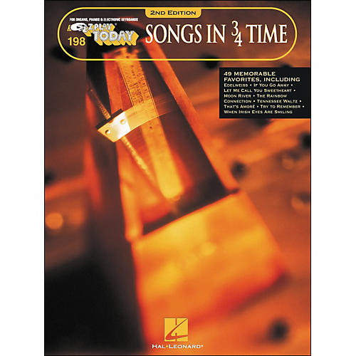 Hal Leonard Songs In 3/4 Time 2nd Edition E-Z Play 198