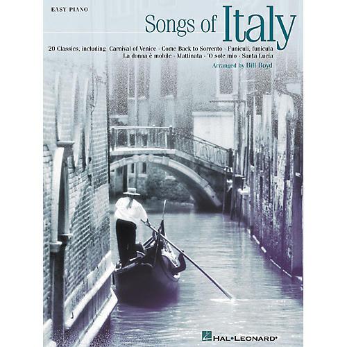 Hal Leonard Songs Of Italy (20 Classics) For Easy Piano