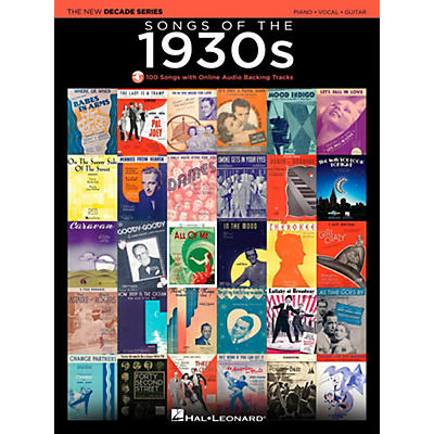 Hal Leonard Songs Of The 1930's - The New Decade Series with Optional Online Play-Along Backing Tracks