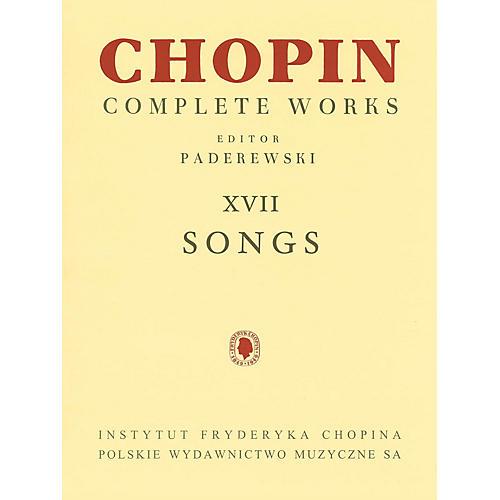 PWM Songs PWM Series  by Frederic Chopin Edited by Ignacy Jan Paderewski