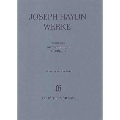 G. Henle Verlag Songs for Several Voices Henle Edition Series Hardcover