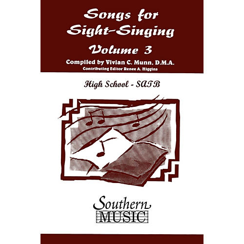 Southern Songs for Sight Singing- Volume 3 (High School Edition SATB Book) SATB Arranged by Mary Henry