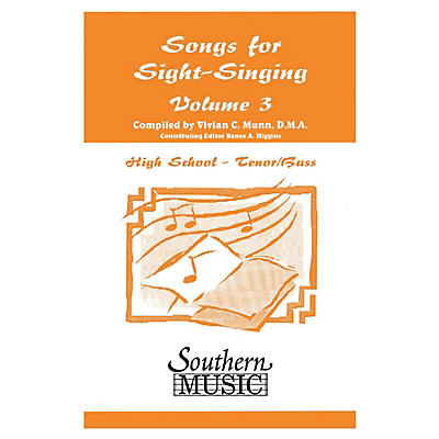Southern Songs for Sight Singing- Volume 3 (High School Edition TB Book) TB Arranged by Mary Henry