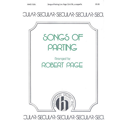 Hinshaw Music Songs of Parting (Three Traditional German) SATB Divisi arranged by Robert Page