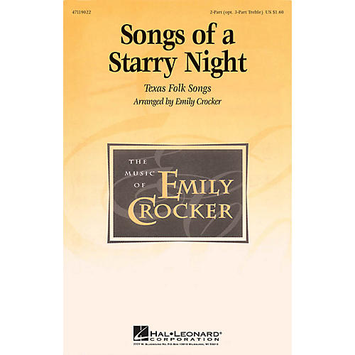 Hal Leonard Songs of a Starry Night (Medley) 2 Part / 3 Part arranged by Emily Crocker