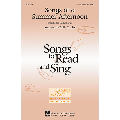 Hal Leonard Songs of a Summer Afternoon 3 Part Treble arranged by Emily Crocker