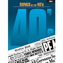 Hal Leonard Songs of the '40s (Viola) Instrumental Folio Series